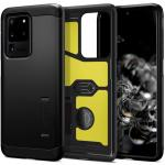Spigen Galaxy S20 Ultra 5G (6.9'') Tough Armor Case Black, DROP-TESTED MILITARY GRADE, HEAVY DUTY, 3-Layer Extreme Protection, Air Cushion Technology,Dual Layer Protection, ACS00716