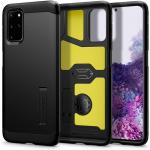 Spigen Galaxy S20+ 5G (6.7'') Tough Armor Case Black, DROP-TESTED MILITARY GRADE, HEAVY DUTY, 3-Layer Extreme Protection, Air Cushion Technology,Dual Layer Protection, ACS00757