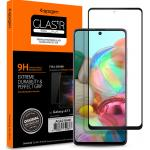 Spigen Galaxy M51/A71 (2020) 4G Full Coverage Premium Curved Tempered Glass Screen Protector, Black Durable 9H Screen Hardness,Rounded Edges,Delicate Touch, Compatible with Spigen Phone Case, AGL01049