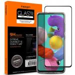 Spigen Galaxy A51 (2020) Full Coverage Premium Curved Tempered Glass Screen Protector, Black Durable 9H Screen Hardness,Rounded Edges,Delicate Touch, Compatible with Spigen Phone Case, AGL01131