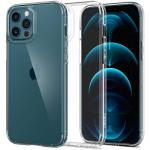 """Spigen iPhone 12 Pro Max (6.7"""") Ultra Hybrid Case - Crystal Clear, Certified Military-Grade Protection, Clear Durable Back Panel + TPU bumper"""