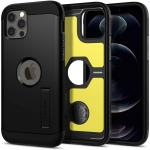 """Spigen iPhone 12/12 Pro (6.1"""") Tough Armor Case - Black, DROP-TESTED MILITARY GRADE,HEAVY DUTY, 3-Layer Extreme Protection, Air Cushion Technology,Dual Layer Protection"""