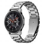 Spigen 22mm Premium Stainless Steel Watch Strap, Silver, Compatiblle witth Galaxy Watch 46mm/Gear S3 Smart Watch & Huawei Watch GT 2 /GT Active 46mm, Smart Watch Premium Stainless Steel - Black, Premium Quality, Sleek & Stylish, Effortless