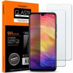 Spigen Xiaomi Redmi Note 7 Premium Tempered Glass Screen Protector, (2P)Super HD Clarity,9H screen hardness ,Delicate Touch,Perfect Grip, Case Friendly with Spigen Phone Case