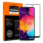 Spigen Galaxy A50/A30/A20 (2019) Premium Tempered Glass Screen Protector,Super HD Clarity, 9H screen hardness, Delicate Touch,Perfect Grip, Case Friendly with Spigen Phone Case 611GL26283