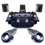 HTC VIVE Pro Virtual Reality Kit VIVE Pro HMD, 2 X Base Station 2.0, 2 X Controllers. with Hi-Res And 3D spatial audio