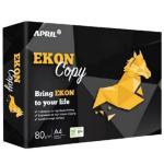APRIL EKON Premium Quality Office Printer Paper A4 - 80gsm White 210x297mm 500 Sheets per Ream A grade Multipurpose Laser, Copier, Inkjet, 150CIE Whiteness Price for per Ream (5reams/box) by PaperOne