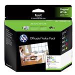 HP 2PD46A 955XL ovp prof inkjet matte cards Inc: 955XL Black, 955XL Cyan, Mageneta, Yellow + 10 sheet matte cards