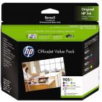 HP 905XL CMYK High Yield Ink Cartridge Value Pack Includes: 905XL Black, Cyan, Mageneta, Yellow + 10 sheet matte cards