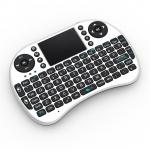 Raspberry Pi Mini Wireless Rechargeable Keyboard With Touchpad Mouse (White) Drive Free for Windows, MAC OS X, Android, Linux, etc,.