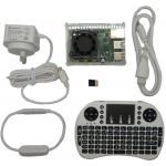 Raspberry Pi 4 Model B 2GB Home Use 4K KODI Media Player Kit Pack White Edition, Supports Dual Monitors, Home Entertainment Center Includes Software and Add-on Plugins Install Guide