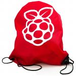 Raspberry Pi Official Merchandise SC0456 Red Drawstring Bag, 470  x 380mm, with Raspberry Pi Logo, Reinforced corners with metal eyelets