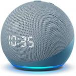 AMAZON Echo Dot Clock (4th Gen) Smart Speaker with Alexa - Twilight blue