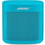 Bose SoundLink Color II Bluetooth Speaker Aquatic Blue, Bold sound, Durable soft-touch silicone exterior, IPX4 Water resistant, Built-in mic for accessing Siri or Google,Upto 8 hours play time