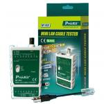 ProsKit MT-7031 Mini Lan Cable Tester - Circuit Protection, 300M Test Distance