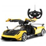 RASTAR 1:14 Yellow Pagani Huayra BC Doors Opened Manually Remote Car Licensed  by Pagani, Battery Not Included For Ages 6+. 5 x AA batteries for car & 2 x AA batteries for controller are excluded.
