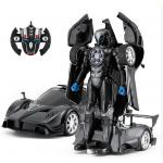 RASTAR 1:14 Black Pagani Zonda R R/C Remote Transformable Car Licensed  by Pagani, 2 in 1, One-Key Transformation, Battery Not Included. For Ages 8+. 4 x AA batteries for car & 3 x AAA batteries for controller are excluded.