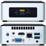 PB 32106 NUC Mini PC Desktop Kit with Pentium N3700 Quad core up to 2.4Ghz, 240GB SSD , 8GB RAM, HDMI/VGA, Gigabit LAN ,SDXC Slot, 4 x USB3.0, Wireless AC/Bluetooth. VESA Ready